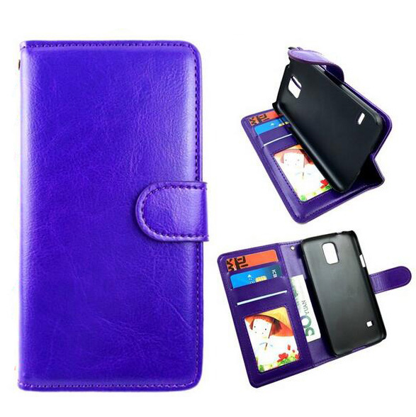 Hot sale Magnet Wallet flip Cover PU Leather case for samsung galaxy S5/G9600