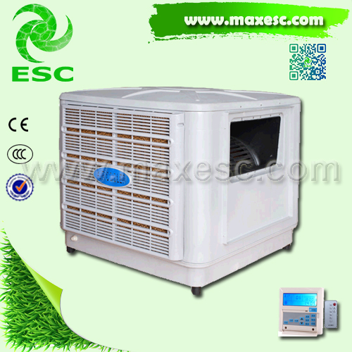 two stage 8000cmh evap air conditioner roof mount exhaust auto electrical cool equipment