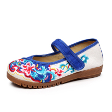 New Style Women Canvas Flats Shoes Casual Handmade Comfortable Soft Shoes Flats