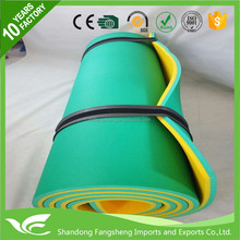 Plastic inflatable pool mat swimming pool float bed polyurethane coated dipping made in China
