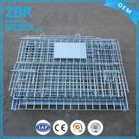 China supplier mesh box wire cage/iron 4 layer roll container