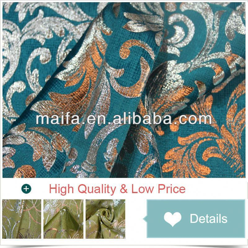 Latest curtain designs 100%polyester cheap and high quality viscose chenille jacquard sofa fabric