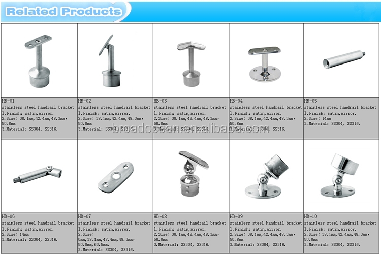 Durable 304 Stainless Steel Handrail Mounting Bracket ,stair Railing Bracket