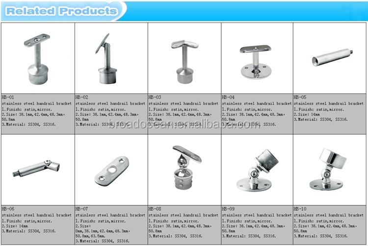 Durable 304 Stainless Steel Handrail Mounting Bracket ,stair Railing Bracket