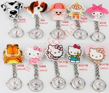 Hello kitty cat Cartoon nursing pocket watch