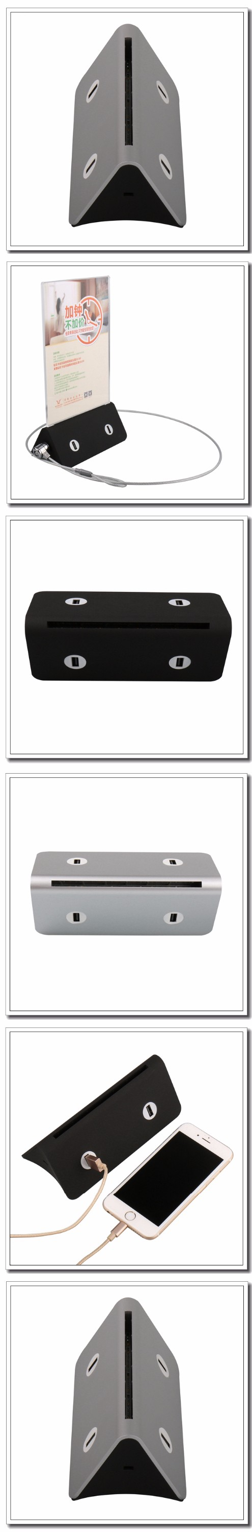 6000mah to 13000 mah menu table top docking powstation charger holder with key lock for restaurant/coffee shop/bar/tea shop