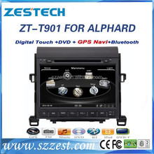 ZESTECH Factory OEM CE/FCC/ROHS certification and 9 inch 2 din car dvd for TOYOTA ALPHARD
