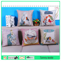 Decorative pillow, sofa cushion Vintage Luxury Linen Photo Print Fancy Cushion Cover Wholesale Pillow Case