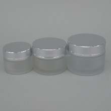 New design frosted glass cosmetic bottle makeup glass cream jar wholesale