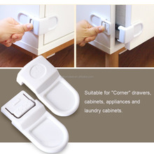 Plastic drawer lock refrigerator child safety lock cabinet latch for baby protection