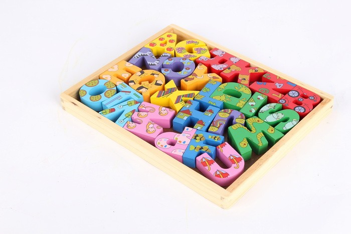 English Alphabet Board Wooden Toys Jigsaw Puzzle 3d Wooden Toys Educational