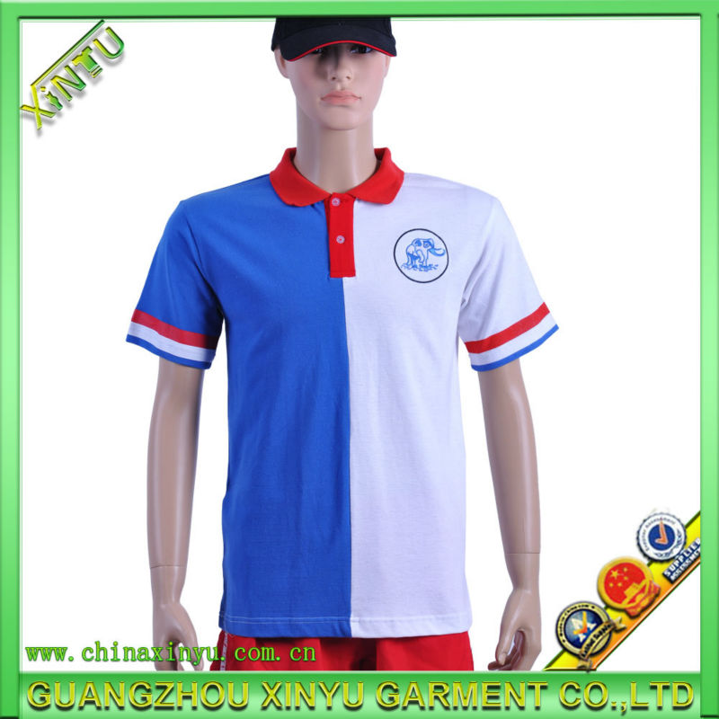 100% Polyester Reflective Contrast Color Polo T-shirt in Various Color Combination