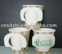 hot drink coffee paper cup with handle