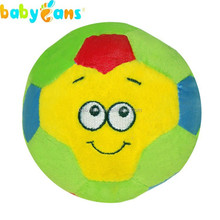 Babyfans Fuuny Stuffed Baby Rattle Plush Soccer Ball Wholesale Baby Toys