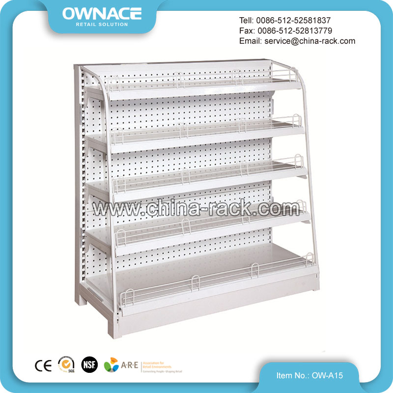 High quality metallic display gondola supermarket shelf