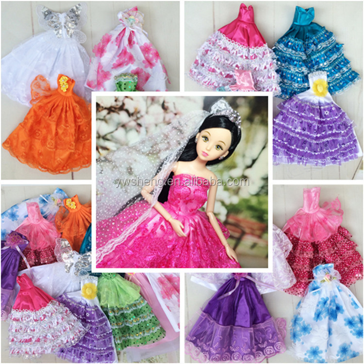 Lovebaby large barbie fashion doll beautiful clothes for kids wedding dressing barbie doll sets changeable clothing