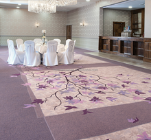Purple Luxury Wall To Wall Carpet, Hand Tufted Carpet
