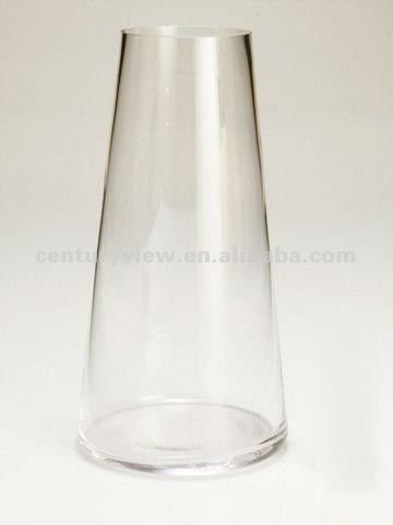 Flower Arrangements Clear Cone Shaped Glass Vase Buy Cone Shaped