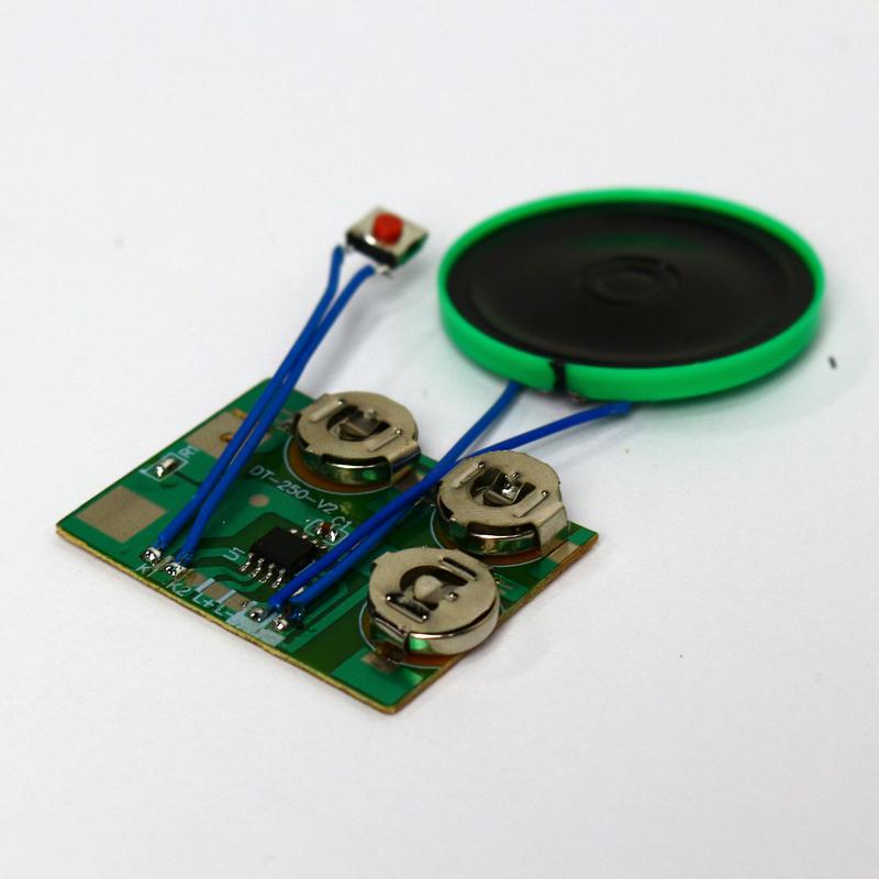Botón 20s módulo de sonido de voz grabables de Sonido Música Caja Para Muñeco De Peluche Juguete DSUK