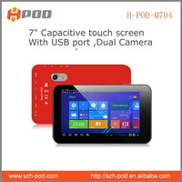 7 inch pc tablet allwinner a23 dual core made in china