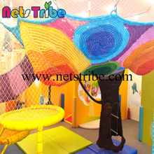 Rainbow Tree Colorful Climbing Nets for Children Indoor Softplay Playground