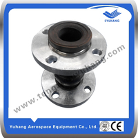 High pressure rubber damping joints