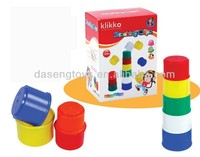 kids cheap educational 12in1 plastic stacking cups toy