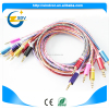 Gold supplier china 3.5mm 1 female to 2 male stereo audio cable
