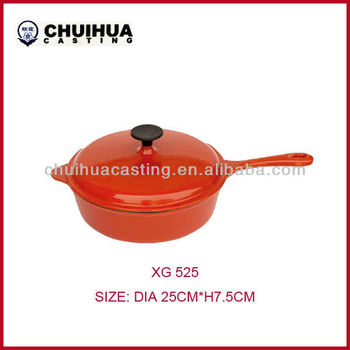 RED Enamel Cast Iron Casserole