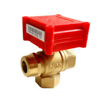 DC12v 15mm 20mm electric control water treatment T flow 3 way motor control valve