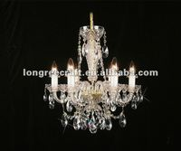 Antique Glass Crystal Hanging Lamp