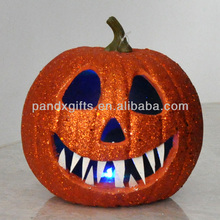 Halloween glitter light up pumpkin for out door decoration