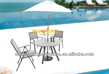 Plastic Wood Furniture Chairs and Table - Garden Dinning