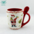 Best selling multicolor sublimation coffee ceramic christmas mug with spoon