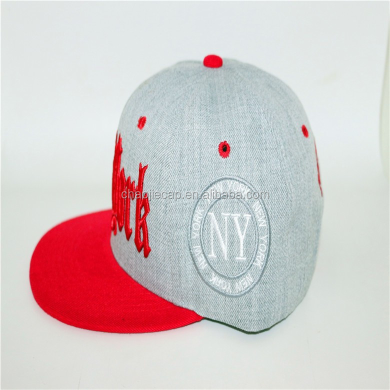 h.grey most popular custom snapback cap with 3D embroidery