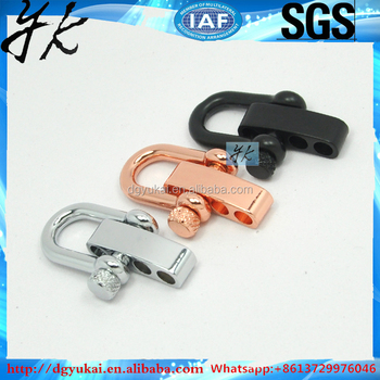 Yukai paracord shackle stainless steel shackle clasp for paracord bracelet