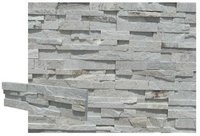 Silver natural stone panel