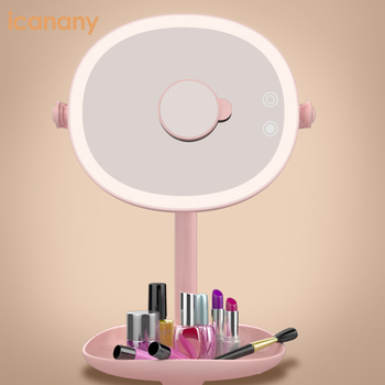 Multifunctional Table Standing LED Cosmetic Mirror Beauty Makeup Mirror With Lights
