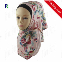 Factory Sale Printed 2 Face Cotton Jersey Instant Shawls Scarf Muslim Wrap