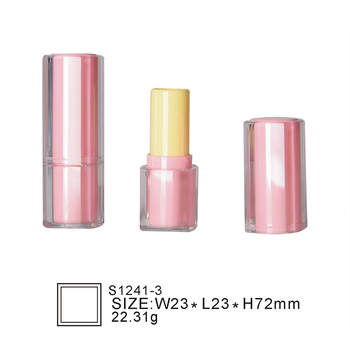 Oubolai brand S1241-3 new fancy hot sale red luxury custom design plastic cosmetic square shape lipstick tubes