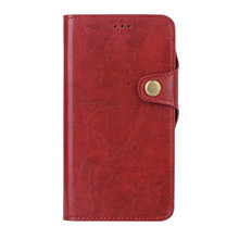 For iPhone 8 Flip Stand Wallet 2in1 Shockproof PU Leather Case Cover with Crazy Horse Texture