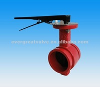 Grooved End Butterfly Valve With Lever