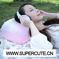PVC plastic custom folding adjustable comfortable inflatable travel pillow