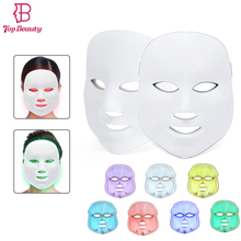 2018 new arrival led mask 7 color light therapy for facial skin rejuvenation