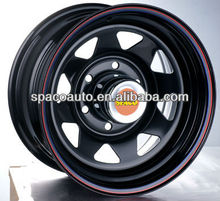 20 inch black rims with chrome lip for pickup truck accessories