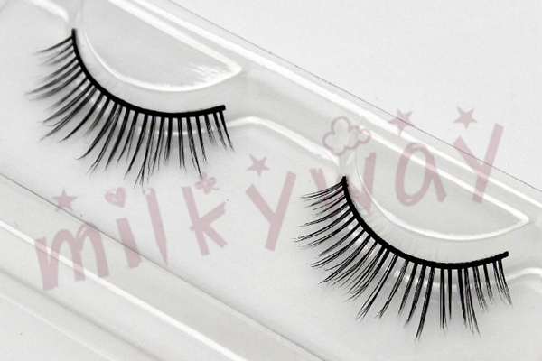 Milkyway top seller short strip mink fur lashes make up eyelashes custom eyelash box