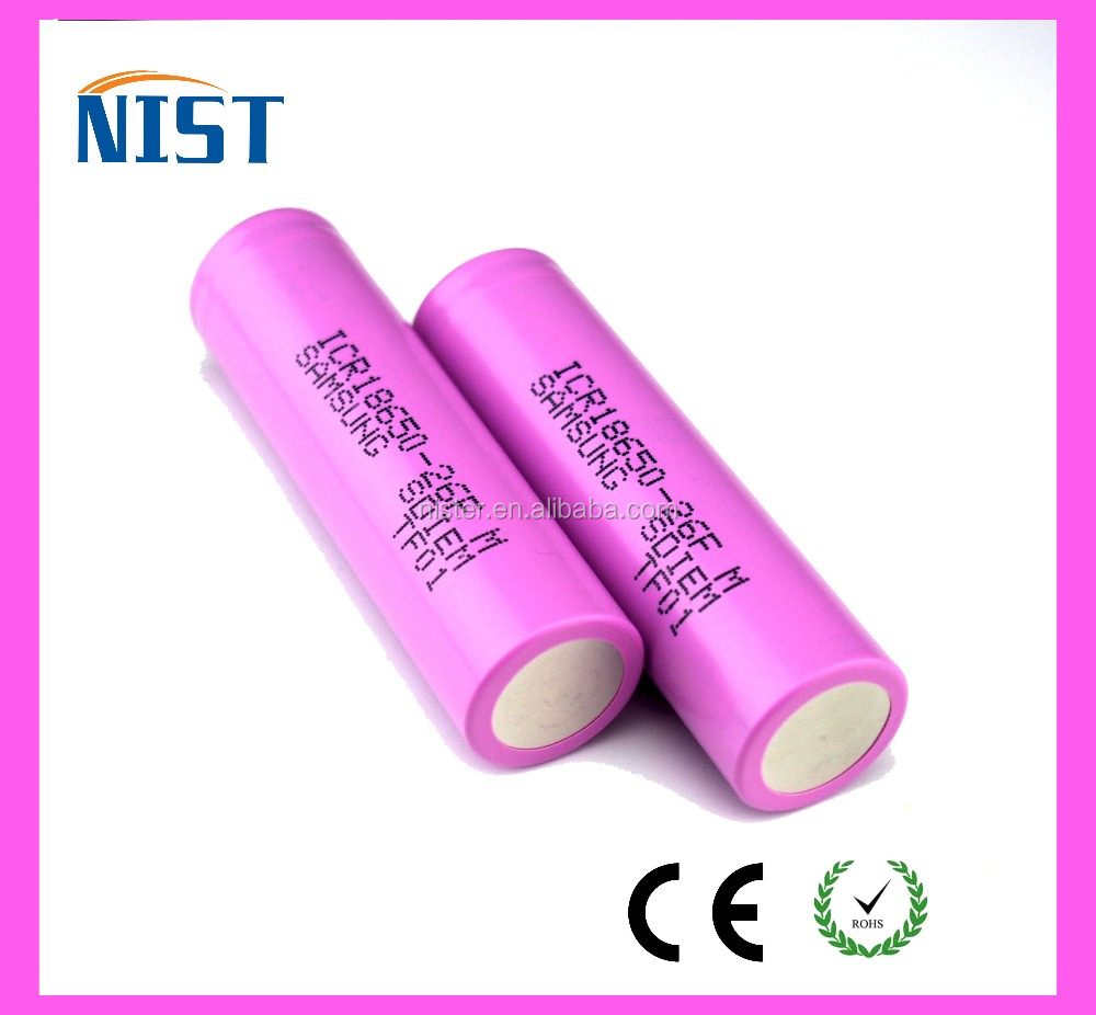 HOT new product Samsung INR18650-26F 18650 li ion battery rechargeable battery