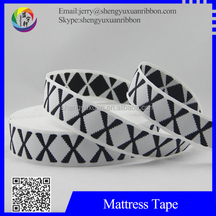 plain polyester jacquard edgeing binding mattress webbing tape(MT-W41)