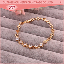 Wholesale new fashion bracelet jewelry,18K gold plated mesh bracelet,cubic zircon bracelet parts for womens jewelry