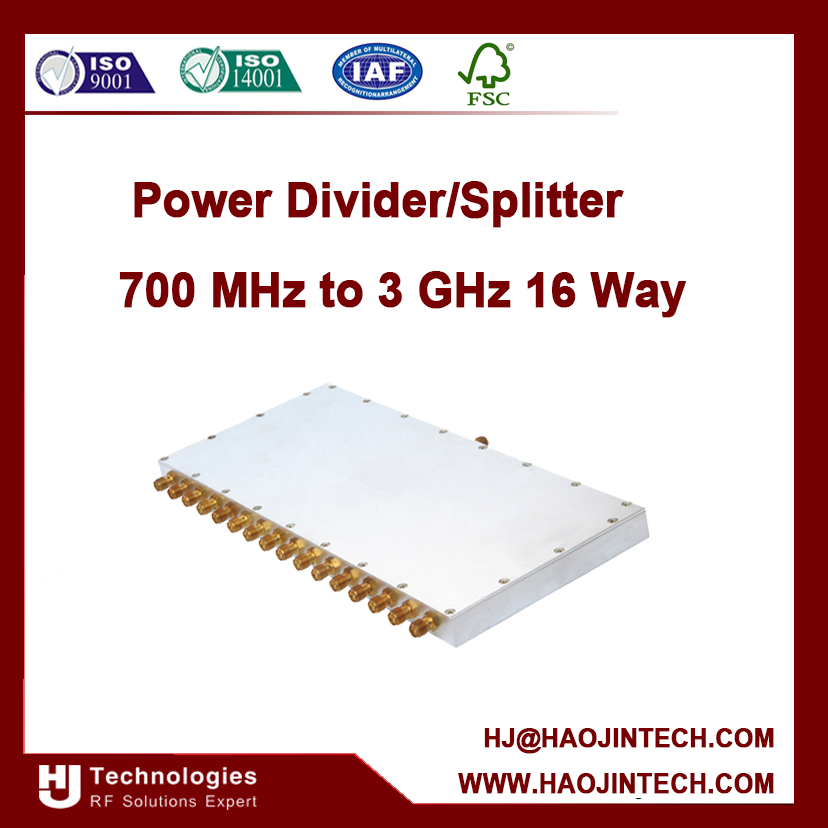 16way RF Power Divider/Splitter ,widely